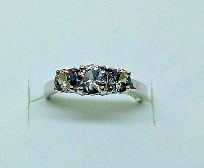 Sterling Silver Mystic Topaz Trilogy Ring - Stunning ***