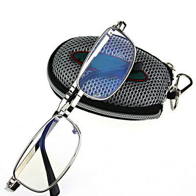 Eye protect Elderly Accessories Oval Metal Frame Glasses Folding reading glasses