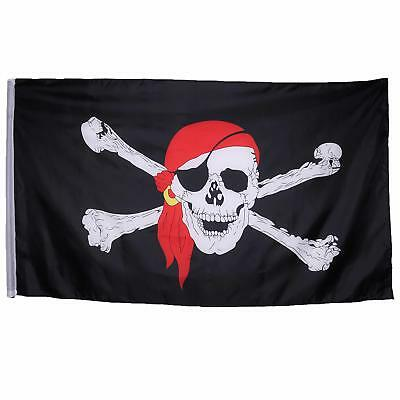 Outdoor Jolly Roger Surrender the Booty Pirate Flag Ship Banner Pennant Sign ONE