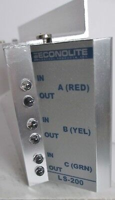 LS-200 Econolite Traffic Control Load Switch Light Red Green Yellow 2 pc Lot New