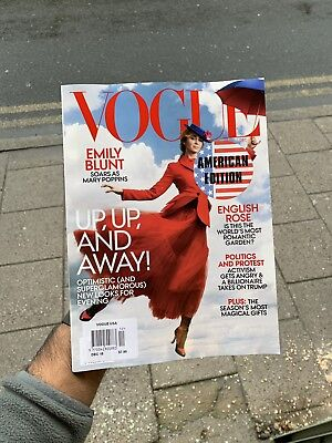 Vogue Usa Edition Magazine Issue December 2018 Emily Blunt Mary Poppins Up