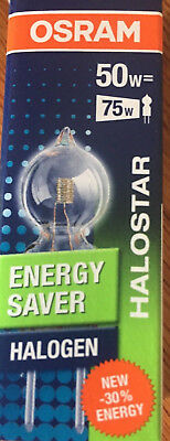 Pack Of 5 Osram GY6 3.5 Halostar ECO Halogen Capsule Energy Saver 50W=75W
