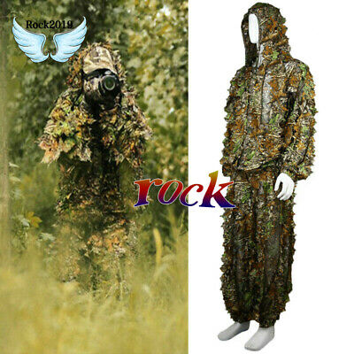 3D REALTREE CAMO hunting leaves GHILLIE SUIT jackets and pants