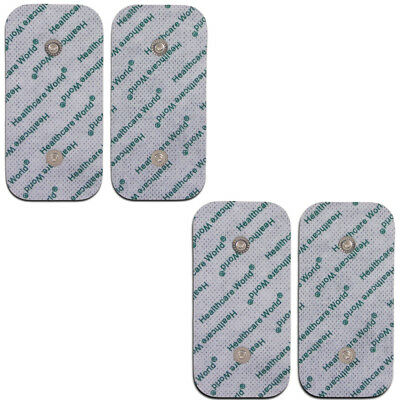 Electrodes for Compex Muscle Stimulator Machines Set of 4 Large with 2 Studs