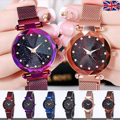 Luxury Starry Sky Women Fasion Wristwatch Magnet Strap Buckle Starry Lady Watch