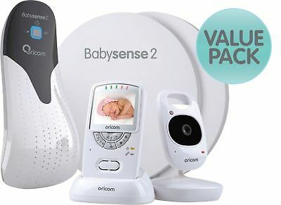 Oricom Value Pack Secure 710 Video Baby Monitor & Babysense 2 infant respiratory