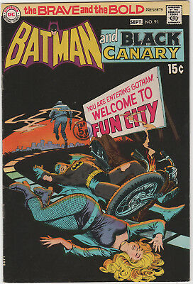 Brave And The Bold  # 91    Bronze Age   Fn+    Batman And Black Canary