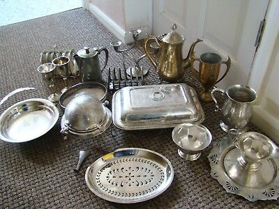 Vintage Joblot, silver plate, House clearance