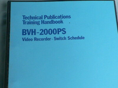 "Switch Schedule for Sony Broadcast 1"" Video Tape Recorder type BVH-2000P"