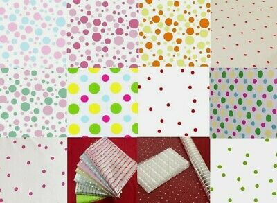 100m Purple Polka Dot Cellophane Gift Wrap Hampers Baskets Birthday Mothers Day