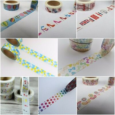 Colourful Washi Tapes, Bright Masking Tapes, Scrapbook Planner Tape