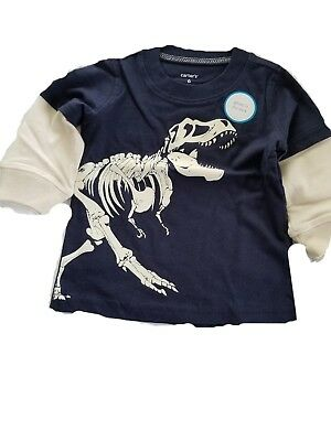 shirt t baby boys  carters sleeve new blue long Sleeve months nwt size 3 - 6 mon