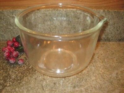 Vtg Small Glass Mixing Bowl Sunbeam MIXMASTER OSTER Regency KITCHEN CENTER MIXER