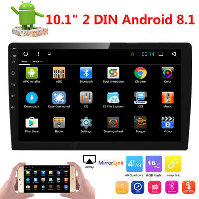 "10.1"" Android 8.1 Oreo Double 2Din InDash Car GPS Navigation Stereo Radio OBD2"