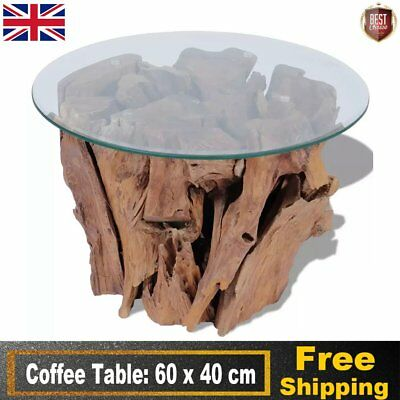 Coffee Table End Side Solid Teak Driftwood 60 cm Living Room Home Decor Unique