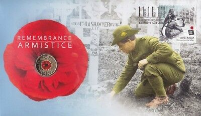 PNC Australia 2018 Remembrance Day Armistice Centenary RAM $2 Coloured Coin