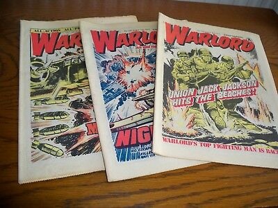 3 Vintage 'Warlord Comics' Issues 150, 151 and 153 all 1977
