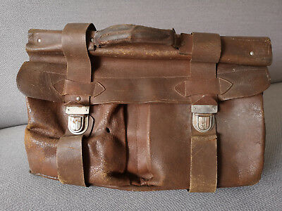 Antique Old Leather Doctor's Medical Bag