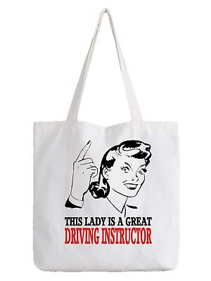 Driving Instructor Ladies Tote Bag Shopper Best Gift Great Driver Learner Job