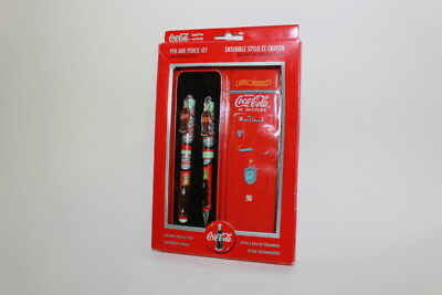 Coca Cola Pen and Pencil Set With Gift Tin 1990s - CocaCola