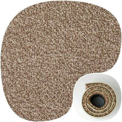 HARDWEARING Brown Twist Pile Felt Back 4m Wide Carpet £6.49Sqm