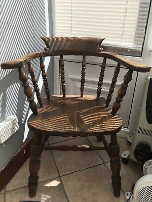 Antique captains chair Oak