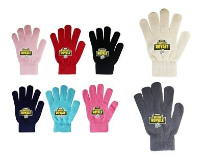 Boys Girl Teenager Fortnite Royal Magic Gloves Ages From 3 -16 Black Navy Red