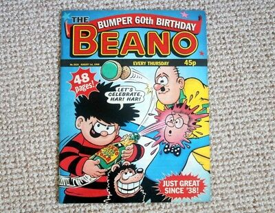 Beano Comic 60Th Bithday Issue 1998