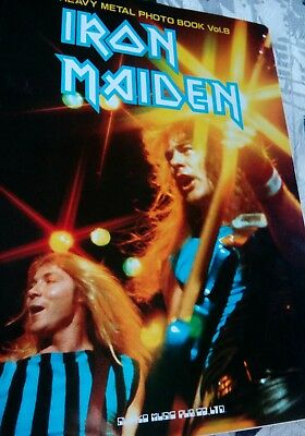 IRON MAIDEN photo book japan very rare japanese album live full page pics