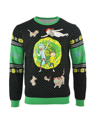 Official Rick & Morty Portal Ugly Christmas Sweater