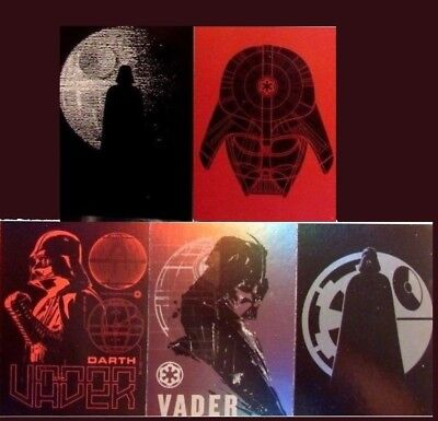 2017 Topps Star Wars Rogue One Series 2 Darth Vader Continuity Set of 5 (11-15)