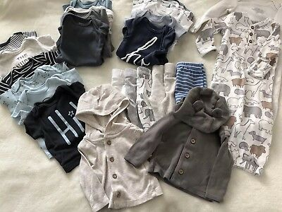 Carter's Baby Boy Clothes Newborn Lot 25 pieces NB Gowns, Pants, Outfits