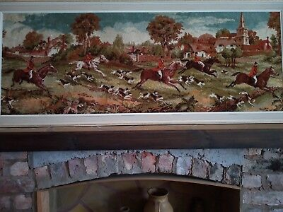 Large Tapestry Hunting Scene on cotton