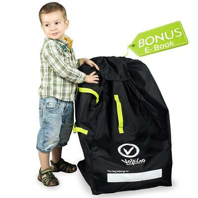 VolkGo DURABLE Car Seat Travel Bag with BONUS e-BOOK –– Ideal Gate Check for...