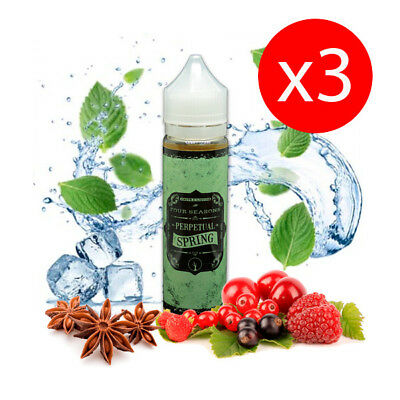 PACK 3 UNDS E-LIQUID DROPS PERPETUAL SPRING 50 ML (BOOSTER) 00 mg
