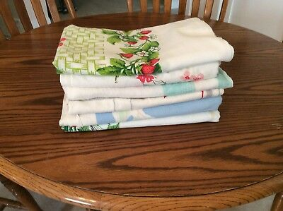 VINTAGE LOT OF SIX 1950/60s TABLECLOTHS