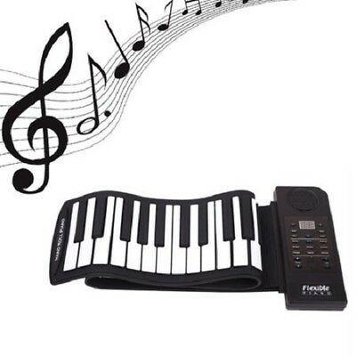 Roll Up Electronic Piano 61 Keys Silicon Digital Flexible Keyboard with 128 tone