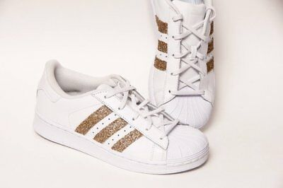 adidas superstar rose gold glitter