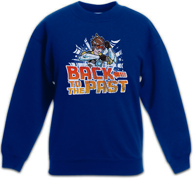 Back to the Past Kids Boys Girls Pullover Marty Car Doc Fun Comic Look Future