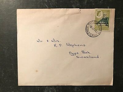 1968 Swaziland Independence Cover to Piggs Peak -  ref175