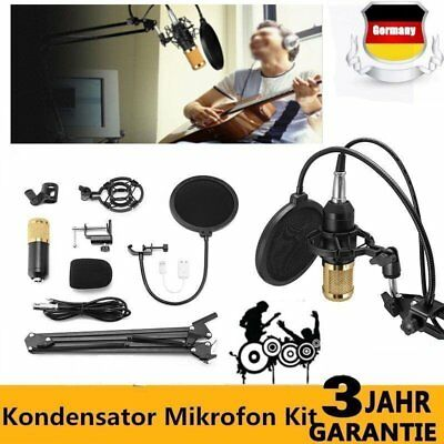 BM800 Kondensatormikrofon with Mic Suspension Scissor Arm Stand Kit Shock Mount