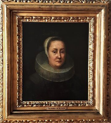 Very Fine 17Th Century  Dutch Old Master Portrait Oil Painting - Circa 1630