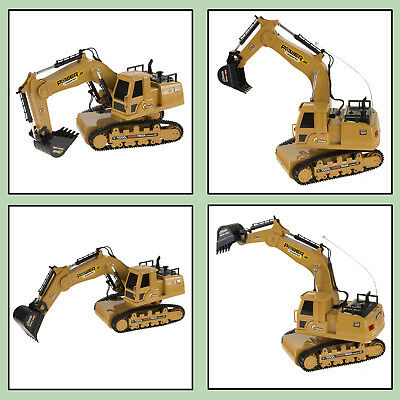 Remote Control Tractor Excavator Toy W Movable Claw Rechargeable Battery Sounds
