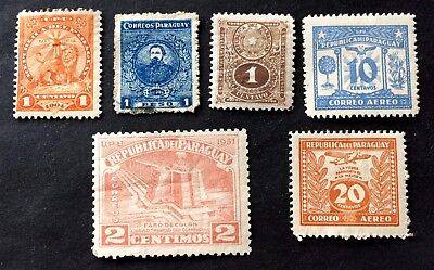 Paraguay - 6 old unused stamps 02