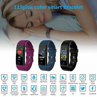 Montre Connectée Couleur Bracelet intelligente Fitness Tracker Smart Watch IP67