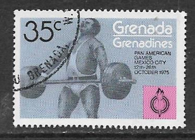 Grenada Grenadines Used Stamp - 1975 - Pan American Games, Mexico, Weightlifting