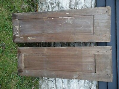 """(2) Antique Cabinet Doors Cupboard Vintage Pair, pegged joints, 55 5/8"""" 18 1/2"""""""