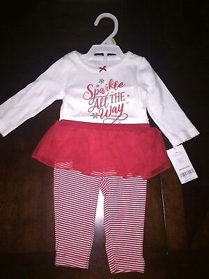 7a3afc8c5 Carter's Baby Girls Christmas Outfit 3 Months Matching Holiday Set ...