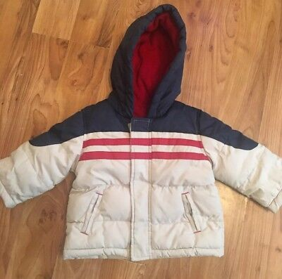 83b095011 BABY BOYS MOTHERCARE Green Padded Hooded Jacket Size 6-9 Months ...
