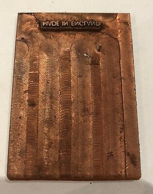 Vintage Copper Printing Block. Letter Press Plate. Made In England